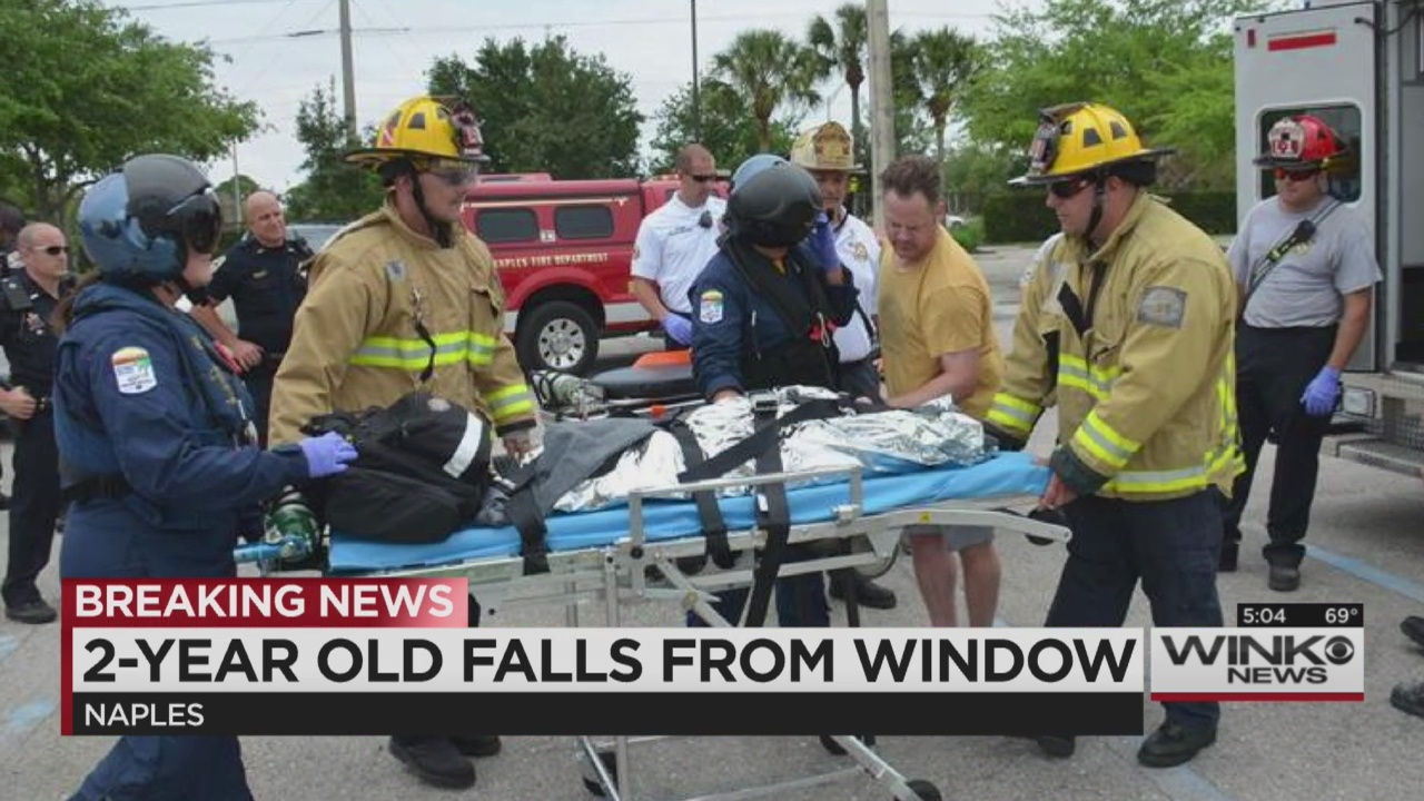 2 year old falls from window in naples wink news for 2 year old falls out of window